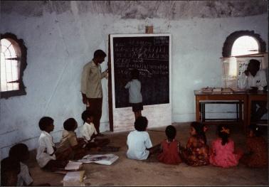 Classroom session run by a local teacher